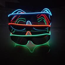 eye catching el wire glasses /el high brightness glasses /sound activated sunglasses