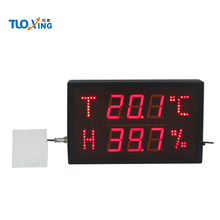 2.3 inch 6 digits wall clocks with humidity temperature