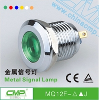 CMP 12mm small waterproof metal 12 volt led indicator lights ip67