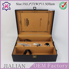 high end and handmade faux leather wine gift packaging boxes