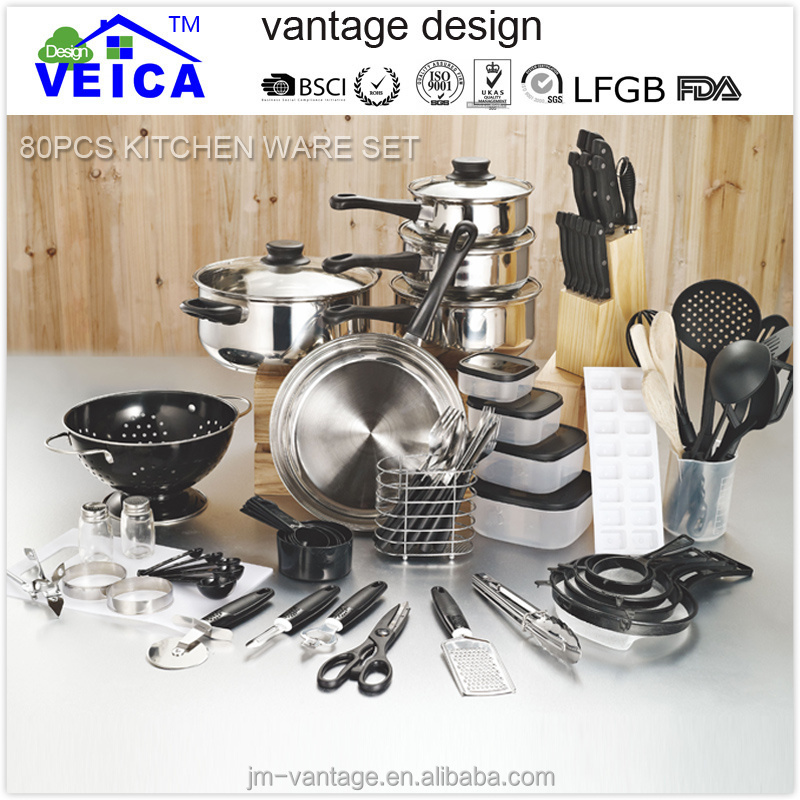 2016 popular high quality german style set of stainless cookware sets