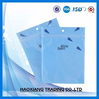 Clear Plastic Small Hang Hole Zipper Bag For Custom Packaging