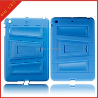 wholesale for Apple iPad 1 2 3 case ,protector pc silicone cover for ipad 1 2 3 with horizontal kickstand