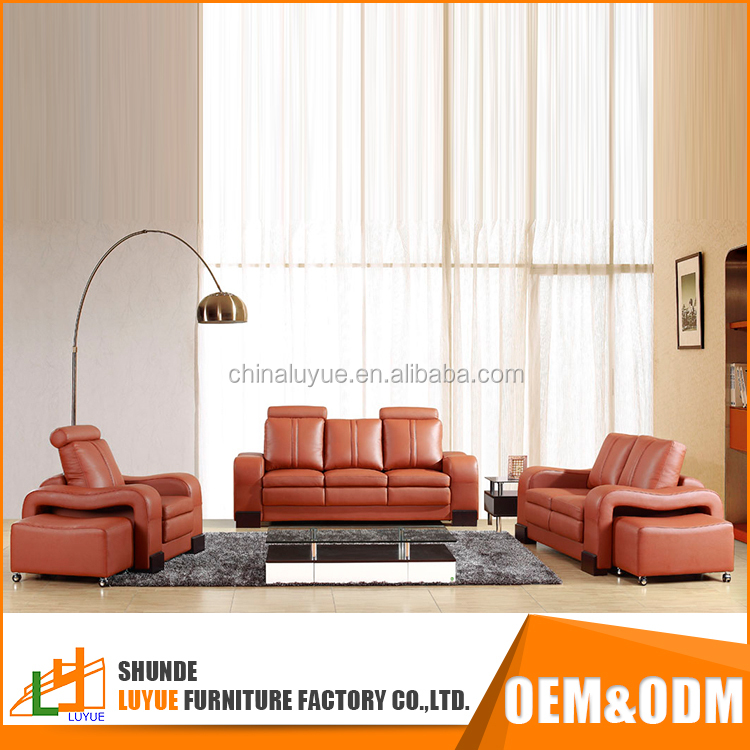 simple design modern sectional 1 + 2 + 3 sofa genuine leather furniture living room sofa set