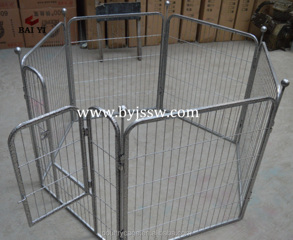Dog Cage Satinless And Large Steel Aluminum Dog Exercise Pen With Pet Play Pen