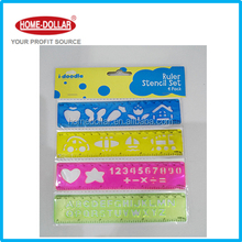 Fancy 15cm stencil ruler set