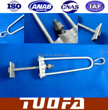 Stay rod Assembly M20/M16 Malawi Bow stay rod with square plate galvanized steel
