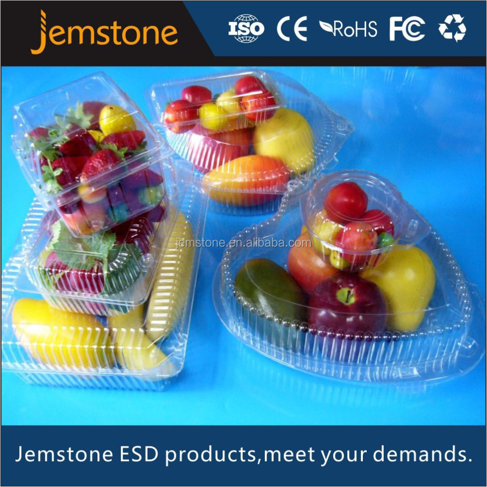 Plastic PET/PVC custom design fruit and vegetable tray