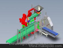 Automatic bag, filling, packaging machinery