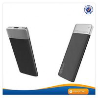 AWC458 Customized Logo portable ultra slim credit card 6000 mah power bank smartphone power bank