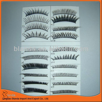 10 pairs synthetic hair eyelash extension