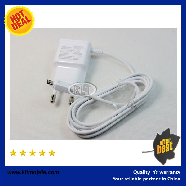 5v 2.1A for samsung 2 in 1 charger micro usb cable+usb charger+package