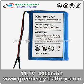 18650 4400mah 12v lithium iron battery for robot vacuum cleaner