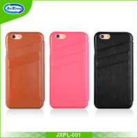 New Arrival Cell Phone Leather Case with Card Holder for iphone 6