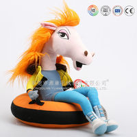 ICTI chinchilla plush stuffed electric walking horse toy for children