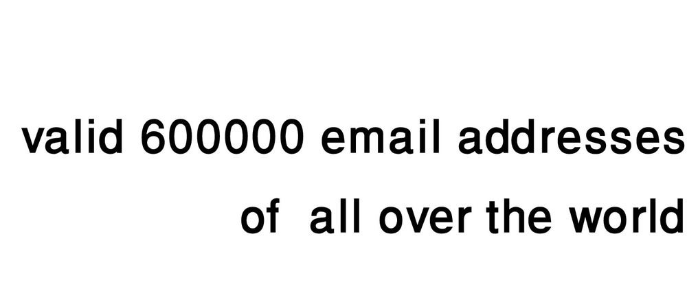 email list : 650000 valid email addresses