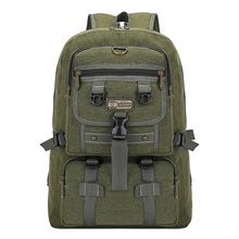 Promotional mochila hiking canvas rucksack bag