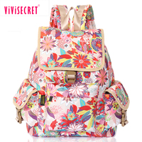 High quality heat transfer printing ultralight waterproof beautiful big woman bagpack fancy girls school campus backpack