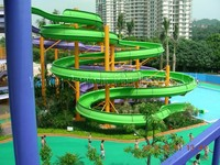 Large Fiberglass Water Park Slides Design For Fun