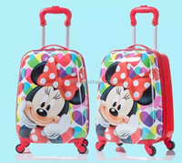 Abs+pc printing kid's trolley luggage/kids luggage