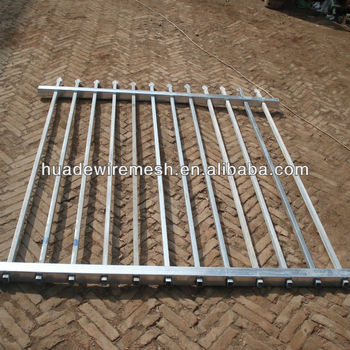 Powder Coated Steel Tubular Palisade Fencing