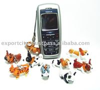 Cell phone Ring Strap Leather crafts 3D design (animal & zoo)