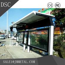 Custom environmental stainless steel bus shelter advertising costs