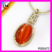 Wholesale German Amber Gemstone Inlay Sterling Silver Pendant Amber 925 Silver Pendant
