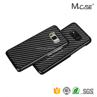 Wholesale Custom Cheap Luxury Carbon Fiber Mobile Phone Case for Samsung galaxy S8 Back Cases