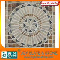 NATURAL SLATE SQUARE MOSAIC TABLE PATTERNS