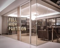 China office furniture part full height glass cubicle office partition