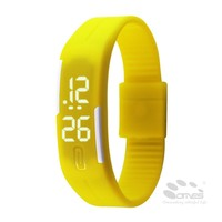 2015 Ultra Thin Men Girl Simple Silicone Rubber band Sports LED wrist watch
