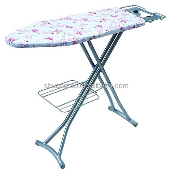 Folding metal mesh ironing board/folding ironing board with step ladder, portable ironing board(factory price)
