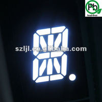 white 2.3'' small electronic 1digit 14/16 segment led display made in China