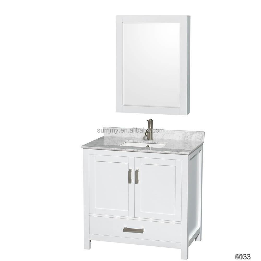 China products manufacturer wood bathroom vanity cabinets for hotel decoration