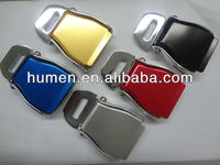 Metal seat belt buckle