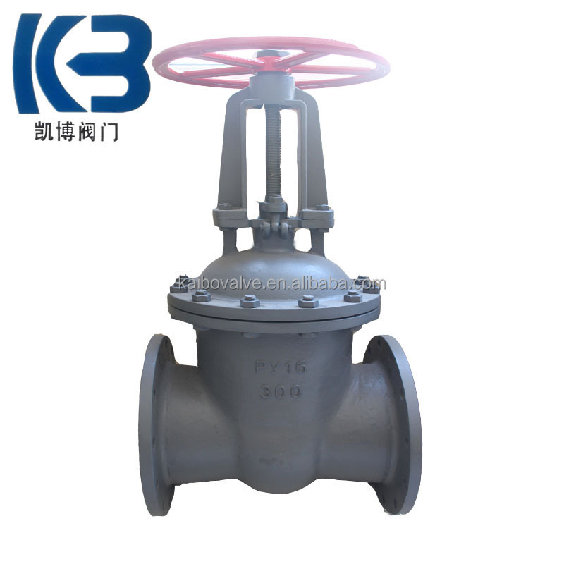 Russia gost cast steel gate valve pn16 for hdpe pipe