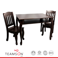 Teamson Kids - Windsor Rectangular Table & Set of 2 Chairs - Espresso
