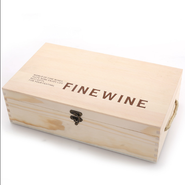 Wholesale 2 battles custom wine gift box with custom logo