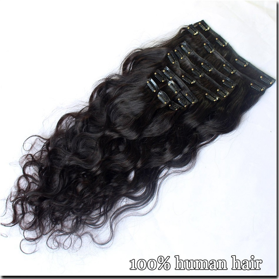 Wholesale Clip In Hair Extension Malaysian Double Drawn Body Wave Clip In Hair Extensions For Black Women