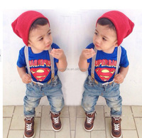 New Arrival children clothing sets,2pcs designs.Super man boy