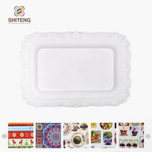 shenzhen factory wholesalers top quality serving tray square black