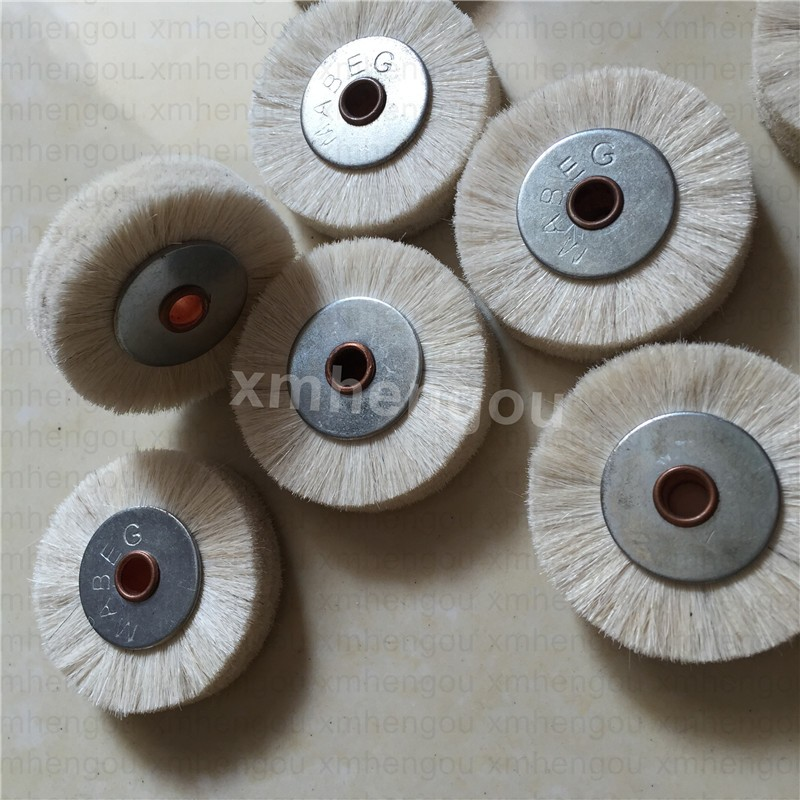 white komori manroland brush, brush wheel for printing machine, stainless steel 45*6mm size durable and high quality