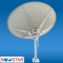 C/KU band 2.4m satellite dish/tv/TX/RX/TVRO antenna & receiver