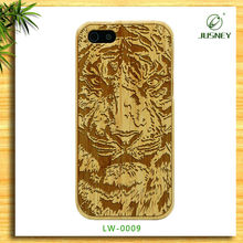 classical style wood accessories tiger design phone cover case for iphone 4 5
