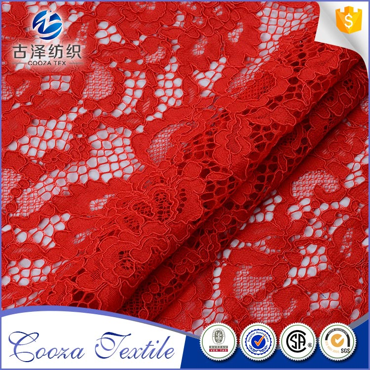 High qulity fashion comfortable polyester lace fabric dubai