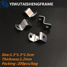 TS-K130 Z shape linking-plate zinc plated oil painting frame hardware connection parts