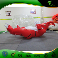 2015 Attractive Lovely PVC Good Quality Tiger Inflatable Red Dragon Animal