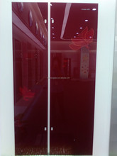 High quality Silk screen printing safety Glass for refrigerator door