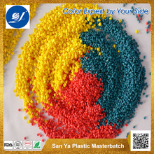 Plastic Raw Material LDPE Granules Color Masterbatch for PE/PP/ABS